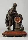 19th Cent. Bronze & Marble Clock