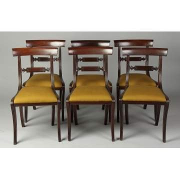 Set of 6 Early 19th Cent. Mahogany Chairs