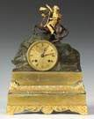 Early 19th Cent. French Gilt Bronze & Bronze Clock