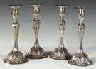 19th Cent. Sterling Silver Candlesticks