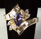 Ladies 14k Gold, Diamond & Tanzanite Ring