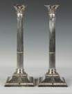 Pair of Silver Classical Candlesticks