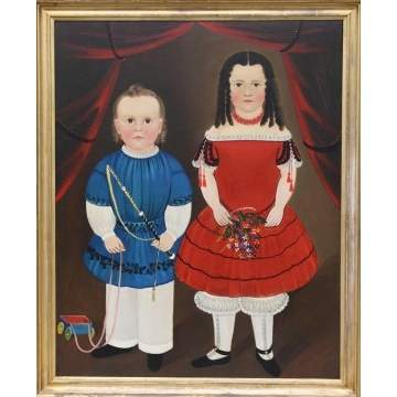 Attr. to William Matthew Prior Folk Art Portrait