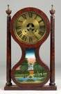 Joseph Ives Hour Glass Shelf Clock