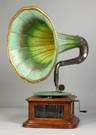 Maestrophone Talking Machine with Loud Speaking Horn Attachment