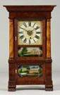 Jerome's & Darrow, Bristol, CT, Miniature Triple Decker Empire Style Shelf Clock
