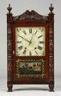 Mark Leavenworth, Waterbury, CT, Shelf Clock Carved Column & Splat