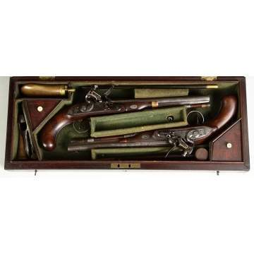 Major William Prevost, Buffs, Pair of Early 19th cent. Flintlock Dueling Pistols