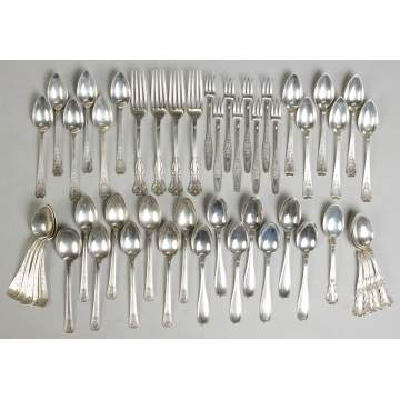 Kirk Sterling Flatware Set - Cheryl Pattern