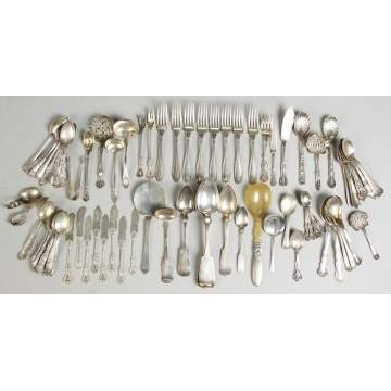 Misc. Sterling Flatware, Early Coin Silver and 2 Bowls