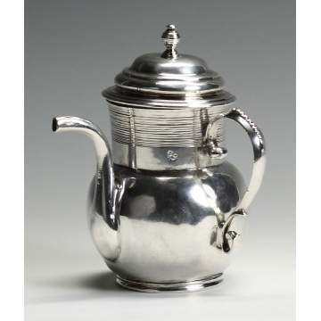Fine and Rare Silver Spout Cup, John Coney (Boston, 1655-1722)