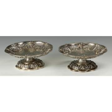 A Pair of Sterling Silver George III Compotes