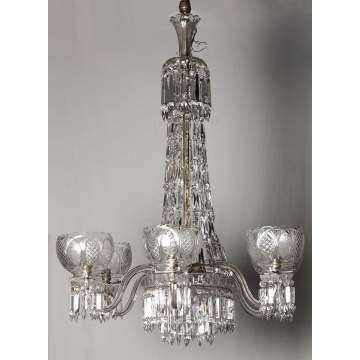 Cut Glass 6 Light Chandelier