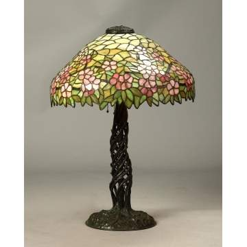 The Unique Art Glass & Metal Co. Bronze Dogwood Lamp