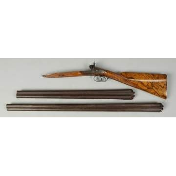 Moore & Harris Walnut Stock & 2 Double Barrels