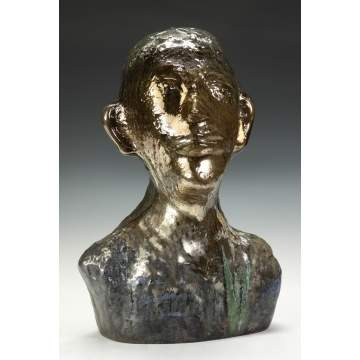 Erwin Eisch (German, born 1927) Sculpted glass bust