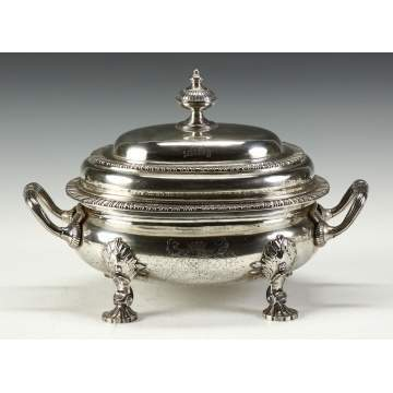 Jabez & Thomas Daniels George III Style Sterling Silver Covered Tureen