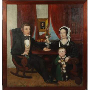Calvin Balis (Utica, NY) Family mourning portrait in the parlor