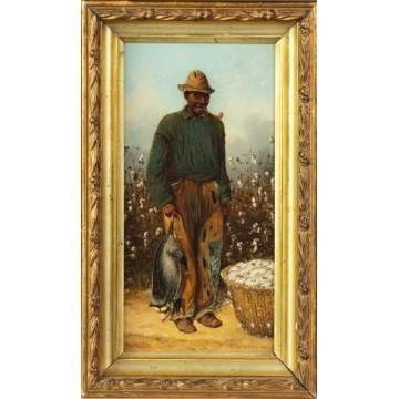 William Aiken Walker (American, 1838-1921) Cotton Picker with Possum