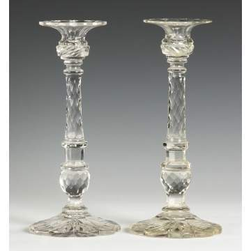Pr. Cut Glass Candlesticks