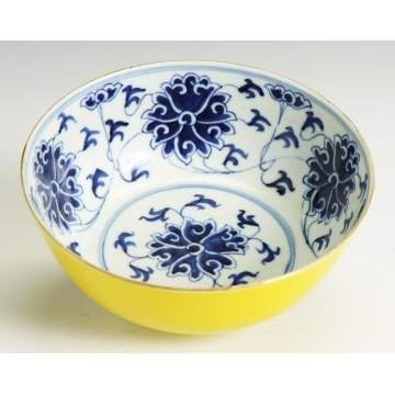 Yellow Ground Qianlong Bowl