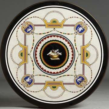 Italian Micro Mosaic on Gilt Wood Table Base