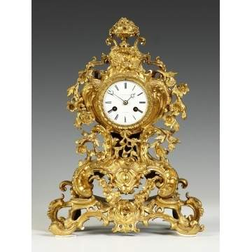 French Gilt Bronze Clock