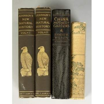 Group of 4 Books, Chinese, Flowers of Japan, Natural History 2 Volumes