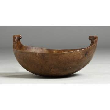 Rare 17th/18th Century Double Bear Effigy Feast Bowl