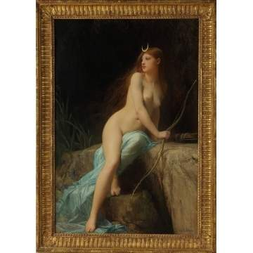 "Jules Joseph LeFebvre (French, 1836-1911) ""Diana, Chasseresse"""