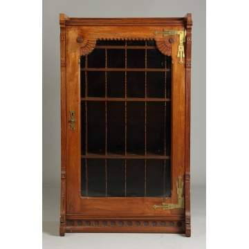 Victorian Single Door Bookcase w/Cubby Holes