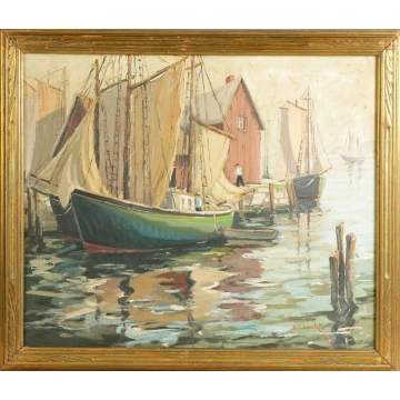 Walter Thomas Sacks (American, 1901-1961) Harbor Scene