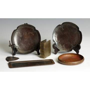 Group of Misc Roycroft Hand Hammered Copper Items