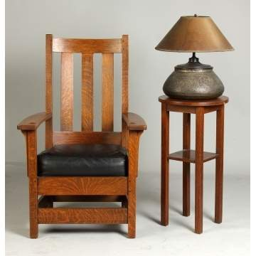 Limbert's Chair, Lamp & Stand