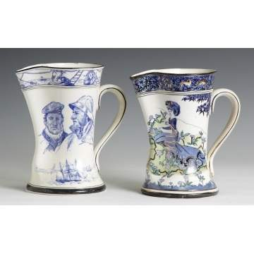 Two Buffalo Pottery Pitchers