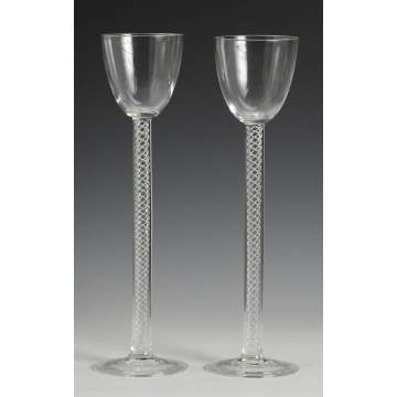 Sgn. Steuben Toasting Glasses