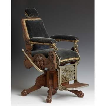 Very Rare Victorian Period Salesman Sample Barber Chair