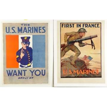 4 WWI Marine Posters