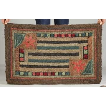 2 Hooked Rugs