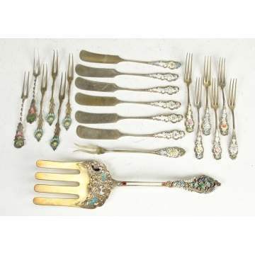Sterling & Enameled Flatware