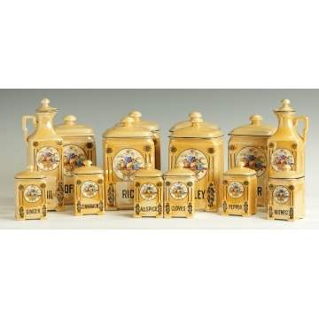 14 Pc. Victoria China, Czech., Creamwear Canisters