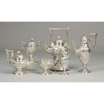 Fine Kirk & Son, Co. Sterling Silver 6-Pc. Tea Set
