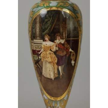 Fine Monumental Royal Vienna Porcelain Vase