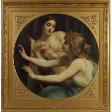 Etienne Adolphe Piot (French, 1850-1910) ladies w/yarn