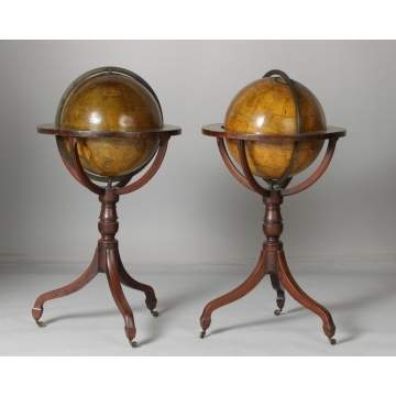 A Pair of Newton's Terrestrial & Celestial Globes on Stands