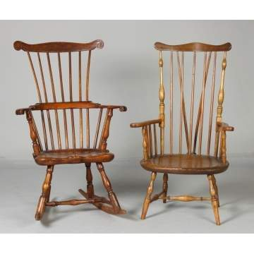 Two 18th Cent. Windsor Chairs