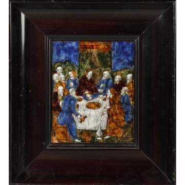 Early Enamel on Copper of Last Supper