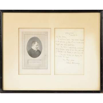 Sgn. Robert Browning Letter