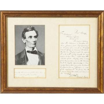 Sgn. A. Lincoln Letter