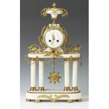 French Portico Shelf Clock